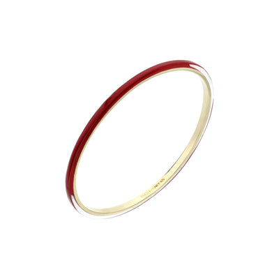 3MM Stacking Thin Lucite Bangle RED