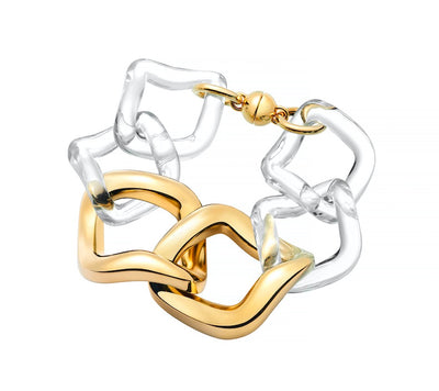 Oversized Twisted Link Bracelet