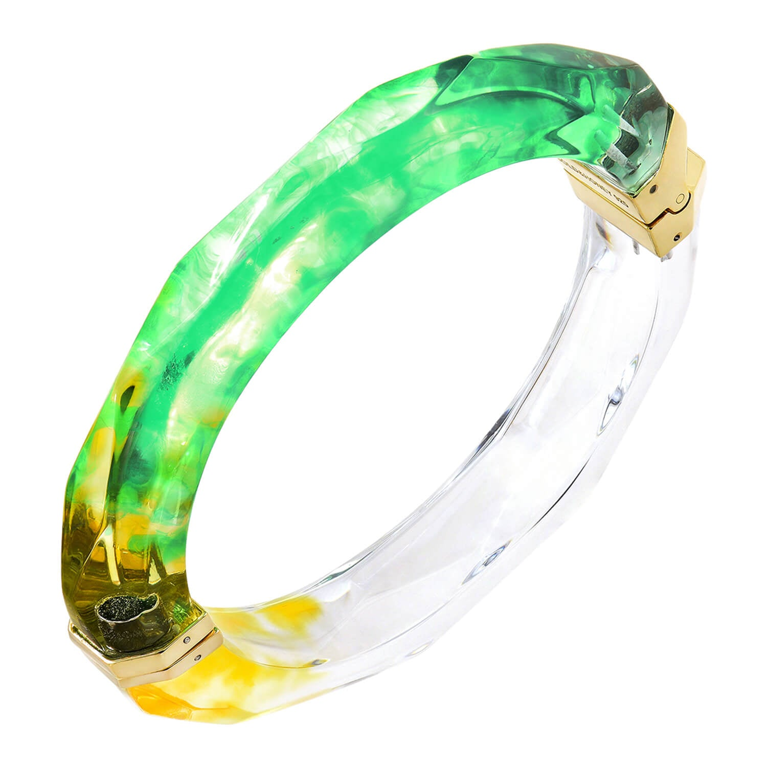 Tie Dye Bangle in Green & Yellow