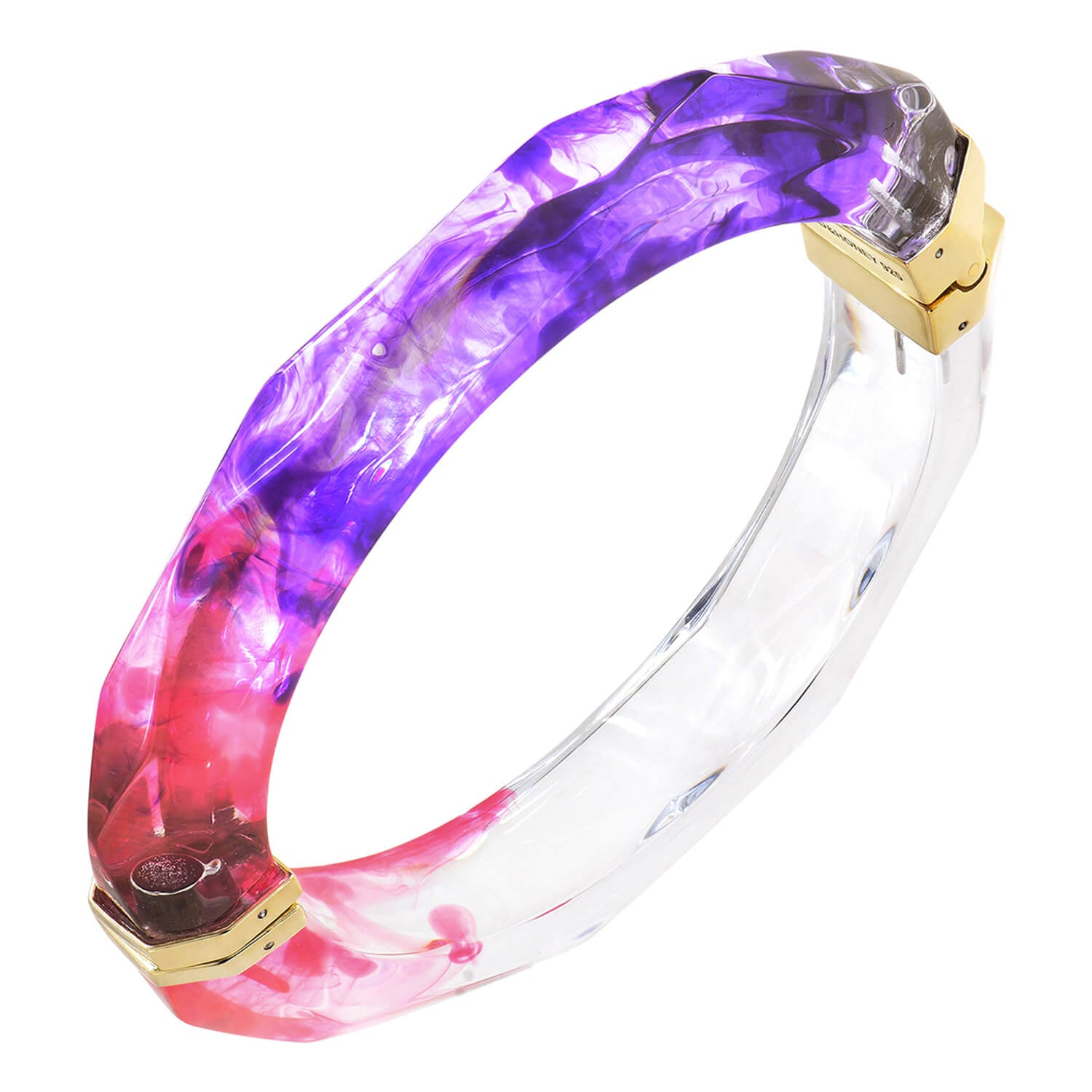 Tie Dye Bangle in Purple & Pink