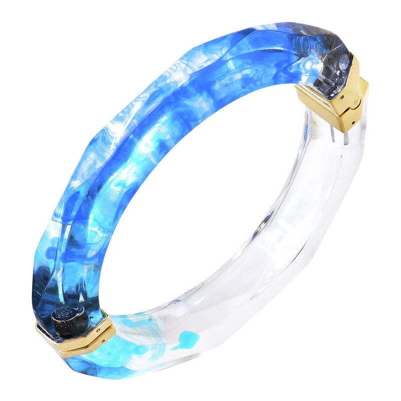 Tie Dye Bangle in Blue