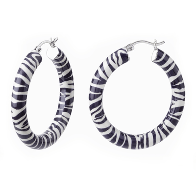 Animal Print Hoops - ZEBRA