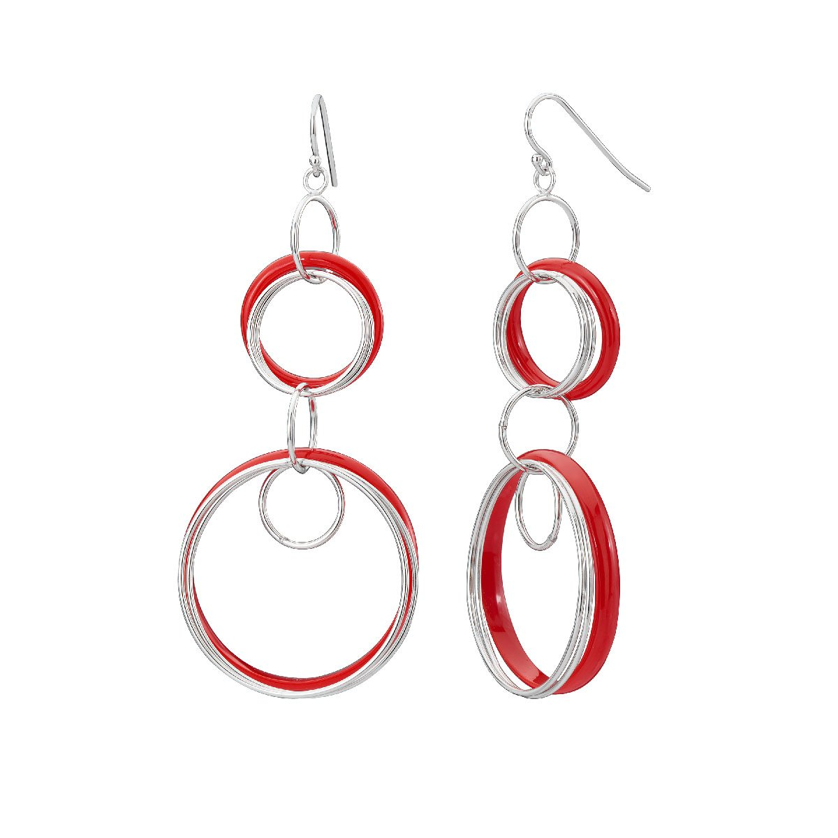 Lucite and Silver Drop Earrings