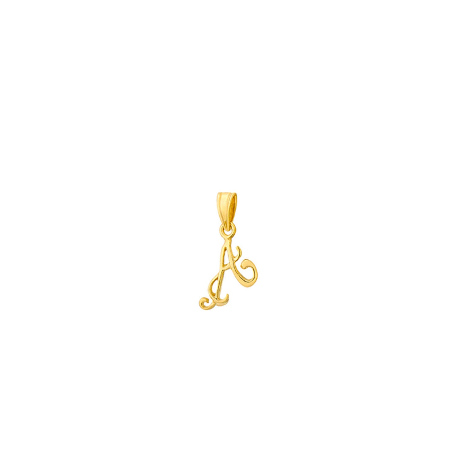 Petite Initial Charms in Gold