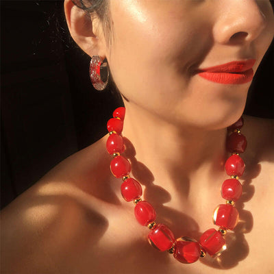 Beaded Lucite Necklace MODEL