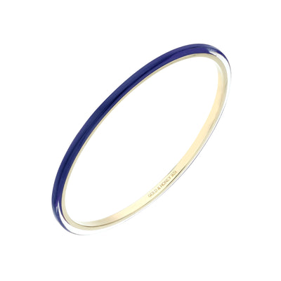 3MM Stacking Thin Lucite Bangle in Blue