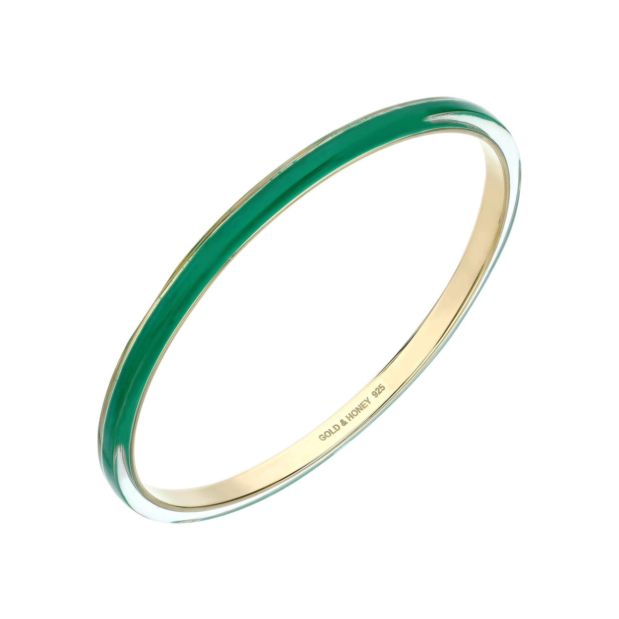 4MM Stacking Thin Lucite Bangle in Green