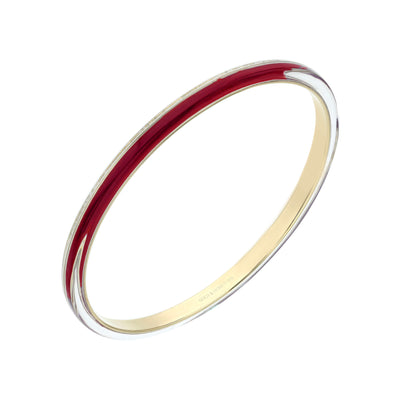 4MM Stacking Thin Lucite Bangle in Red