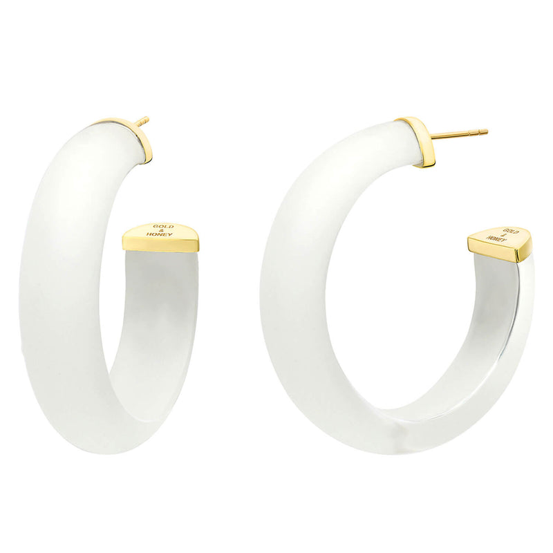 Medium Illusion Lucite Hoops in Clear