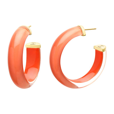 Medium Illusion Lucite Hoops <br> (More Colors Available)