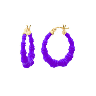 Mini Bamboo Hoops - ULTRA VIOLET