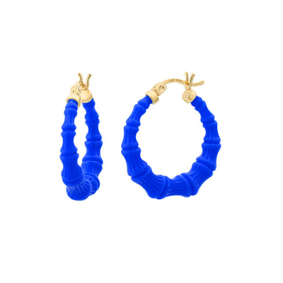 Mini Bamboo Hoops - ROYAL BLUE