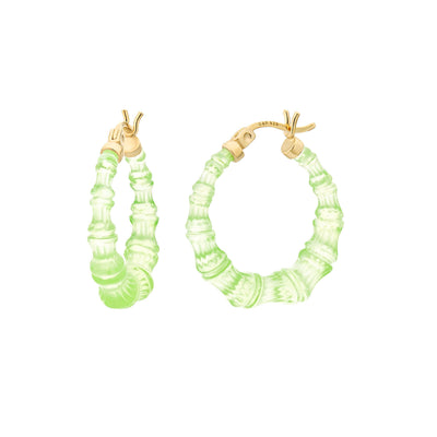 Mini Bamboo Hoops - TRAN GREEN