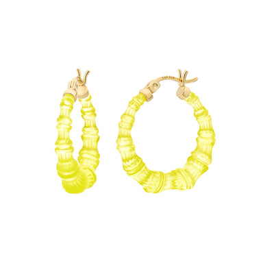 Mini Bamboo Hoops - TRAN YELLOW