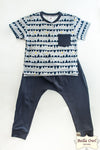 HAPPY, Pewter Boy Outfit for Infants & Toddlers