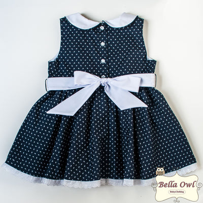 NAVY FLOWERS, Dress for Infants & Toddlers