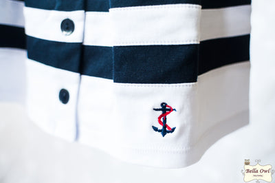 NAUTICAL GIRL, Dress with Hat for Infants & Toddlers