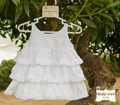 LAYERS, White Dress for Infants & Toddlers