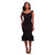 Layla Black Mermaid Shape Ruffle Midi Dress #Midi Dress #Black SA-BLL36032-2 Fashion Dresses and Midi Dress by Sexy Affordable Clothing