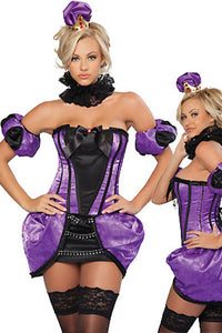 5pcs Royal Purple Corset Costume
