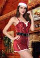 Naughty and Nice Red Twinkling Santa Outfit