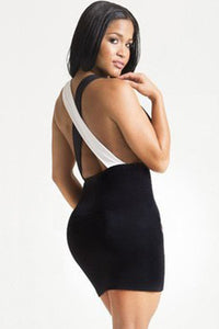Two Faced Crisscross Backless Night Club Dress