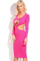 Rosy Sexy Cut-out Bodycon Evening Dress
