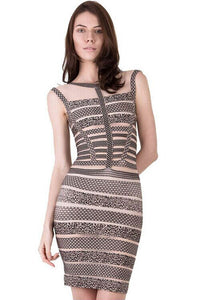 Gorgeous Print Bandage Dress
