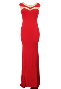 Beautiful Sexy Long Mermaid Formal Red Evening Gown