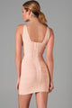 Deep V Neck Celeb Bandage Dress in Pink