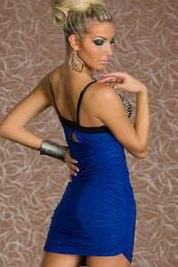 Babe Blue Punk Rivets Bra Top Club Dress