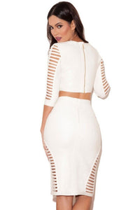 White Bandage 2pcs Skirt Set