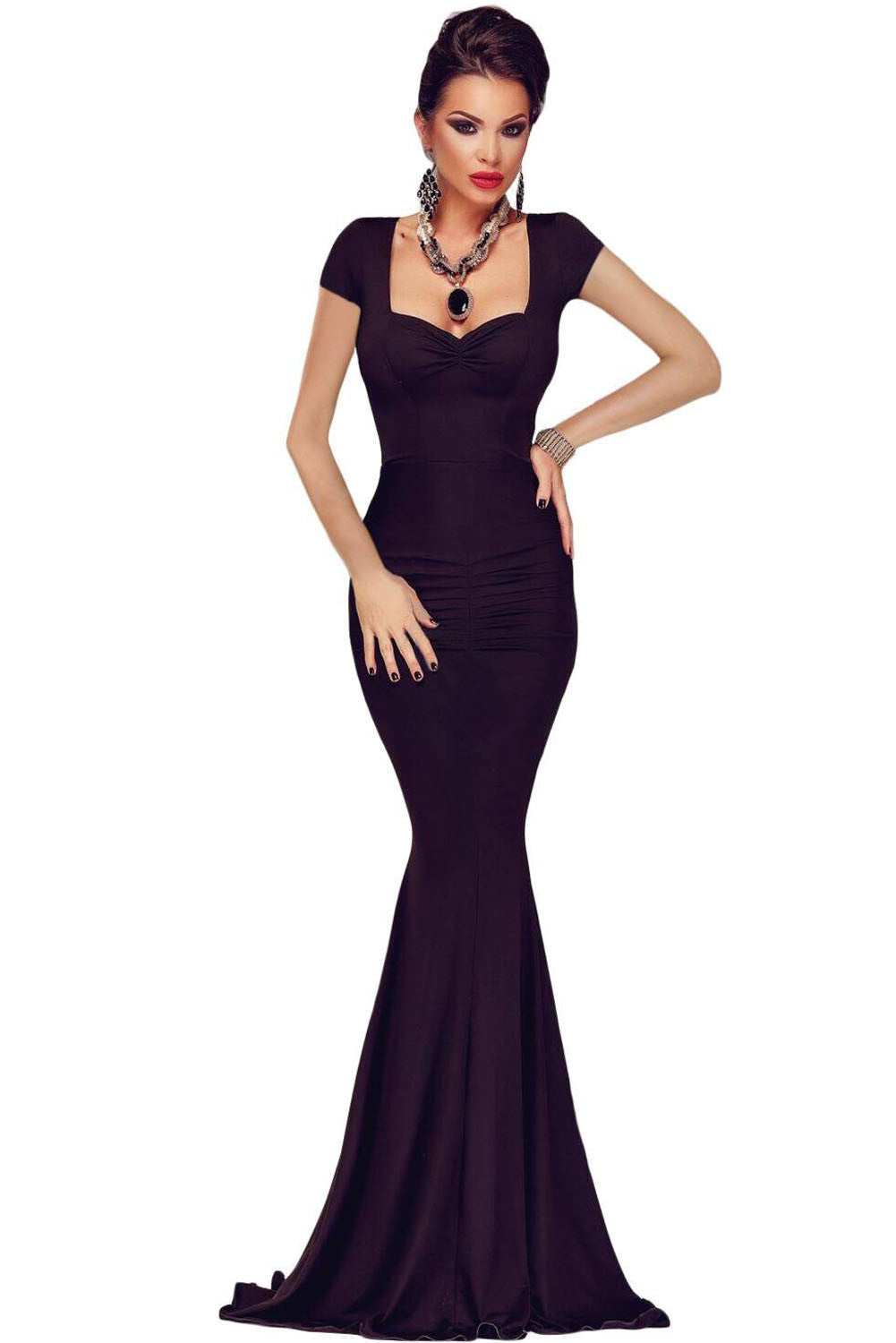Black Crisscross Back Tie Maxi Party Dress – SEXY AFFORDABLE CLOTHING c5020b821