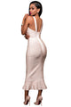Apricot Fishtail Luxe Bandage Dress