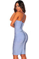 Ice Blue Crisscross Bandage Dress