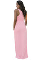 Pale Pink Racerback Maxi Dress with Pockets
