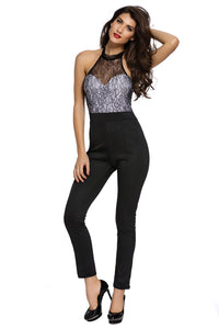 Trendy Lace Neck Jumpsuit