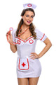 3pcs Flirty Night Nurse Costume