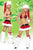 4pcs Christmas Santa Stripper Skirt Set