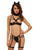 4pcs Strappy Feline Cat Lingerie Costume