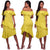 Alejandra Chartreuse Ruffle Midi Dress #Midi Dress #Dress SA-BLL36180 Fashion Dresses and Midi Dress by Sexy Affordable Clothing