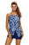 Asymmetric Split Front Halter Tankini Swim Top