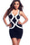 Bandage Front Racer Back Black Bodycon Dress