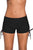Black Adjustable Ties Swim Bottom Shorts