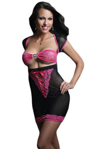 Black Blooming Beauty Chemise Dress