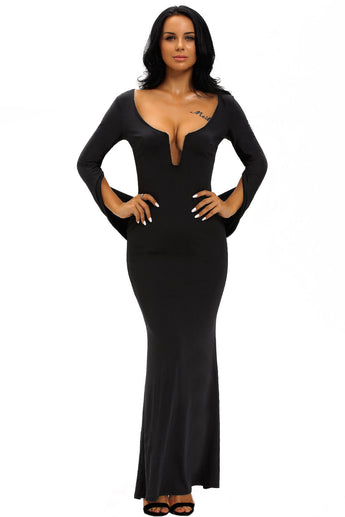 Black Cape Shawl Party Prom Gown