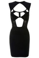 Black Cut out and Mesh Bandage Dress