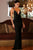 Black Deep V Neckline Backless Evening Gown