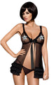 Black Obsessive Kalia Sexy Babydoll Dress