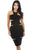 Black Ruched Cutout Side Club Dress